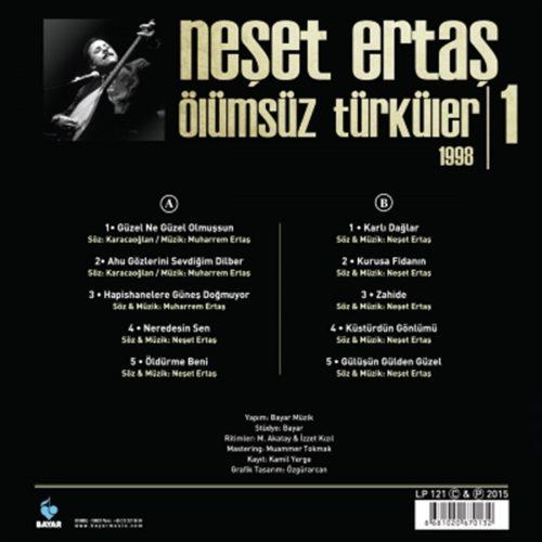 Satılık Plak Neşet Ertaş Ölümsüz Türküler 1 1998 Plak Arka