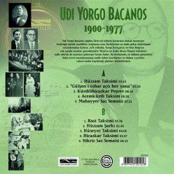 Satılık Plak Udi Yorgo Bacanos 1900-1977 Plak Arka