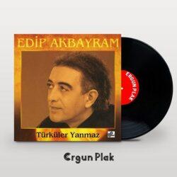 Satılık Plak Edip Akbayram Türküler Yanmaz Plak Kapak