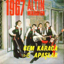 Satılık Plak Cem Karaca Apaşlar 1967 Altın Mikrofon 45'liği Ön Kapak