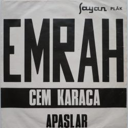 Satılık Plak Cem Karaca Apaşlar Emrah EP 45'lik Plak Ön Kapak