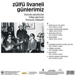 Satılık Plak Zülfü Livaneli - Günlerimiz Plak Arka