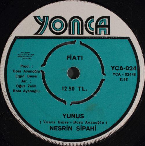 Satılık Plak Nesrin Sipahi Kara Mehmet 45'lik Plak Arka
