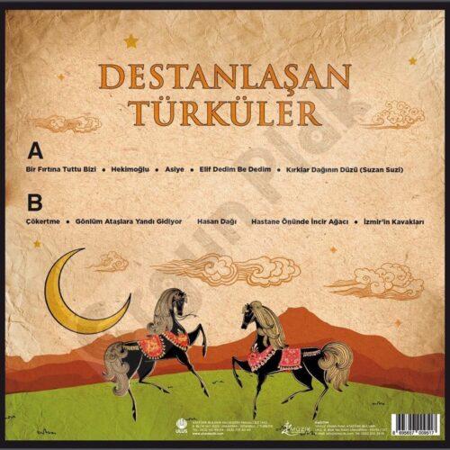 Satılık Plak Destanlaşan Türküler Plak Arka Kapak