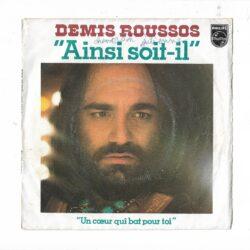 Satılık Plak Demis Roussos Ainsi Soit Il 45lik Plak Ön Kapak