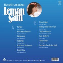 Satılık Plak Leman Sam Livaneli Şarkıları Plak Arka Kapak