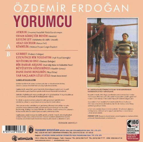 Satılık Plak Özdemir Erdoğan Yorumcu Plak Arka Kapak