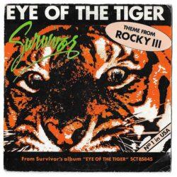 Satılık Plak Survivor Eye Of The Tiger Plak 45lik Plak Ön Kapak