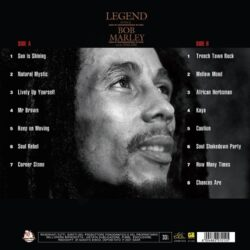 Satılık Plak Bob Marley Legend Plak Arka Kapak